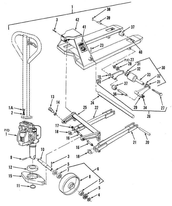 hand truck parts diagram