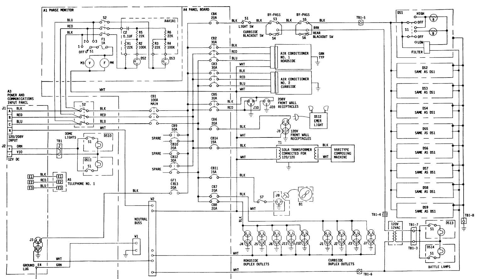 Drafting Support Section Electrical Schematic FP-13/(FP-14 b l a n k)